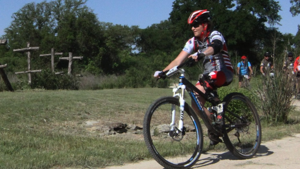 This is the second W100K for 1st Lt. Melissa Stockwell, a retired Army cavalry officer.  Stockwell lost her left leg when an improvised explosive device hit the Humvee she was riding in during a deployment to Iraq. She is the first woman to lose a limb in active combat in Operation Iraqi Freedom. She wears a hip-down prosthetic leg.<br />