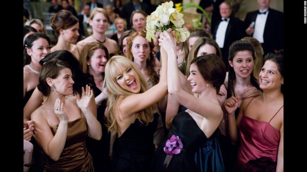 "<strong>""Bride Wars"":</strong> Sometimes the worst guest is your best friend. Kate Hudson, center left, and Anne Hathaway play battling Bridezillas whose weddings are inadvertently scheduled on the same day in this 2009 movie."