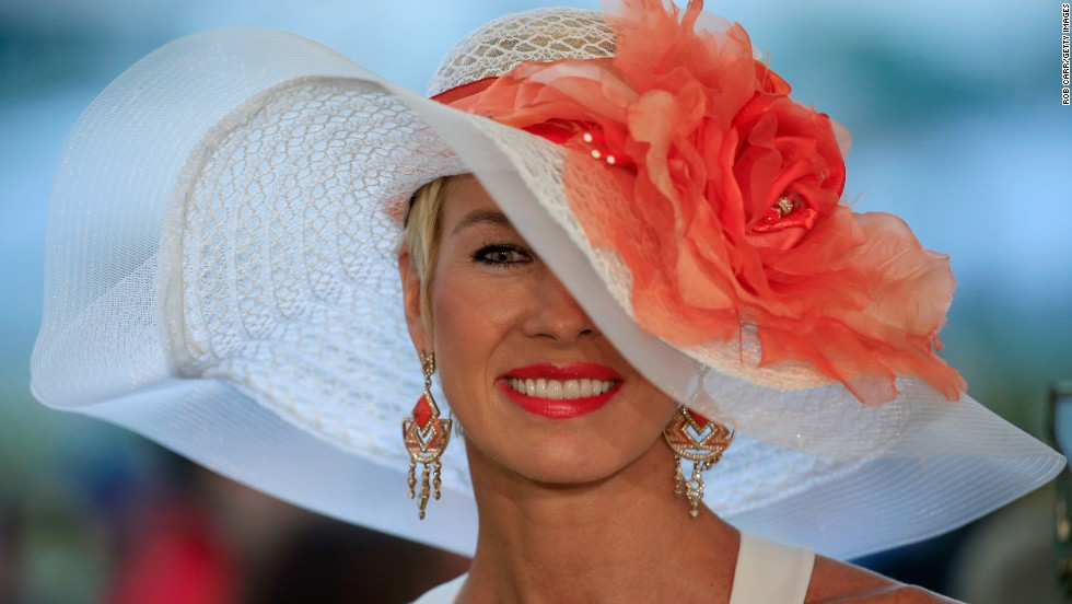 Flamboyant hats are never far away on major race days.