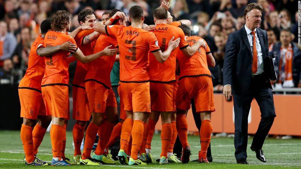 The 62-year-old is still in charge of the Netherlands -- for the second time in his career -- but will join United after the World Cup in Brazil.