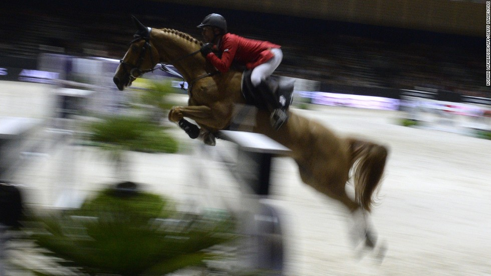 Pius Schwizer of Switzerland along with horse Quidam du Vivier claimed victory in the jumping final at the FEI World Cup jumping and dressage finals held in Chassieu, France in April.