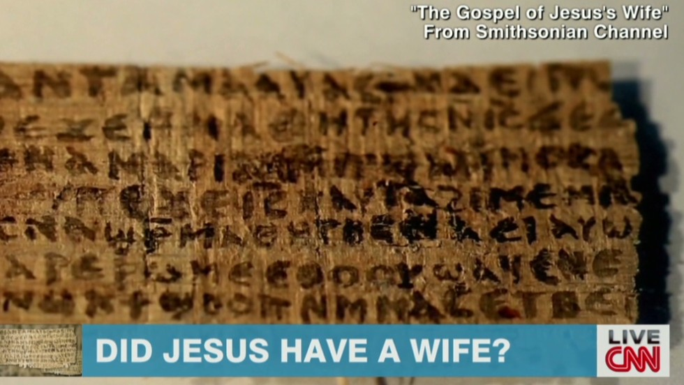 Does papyrus say Jesus had a wife?  - CNN Video