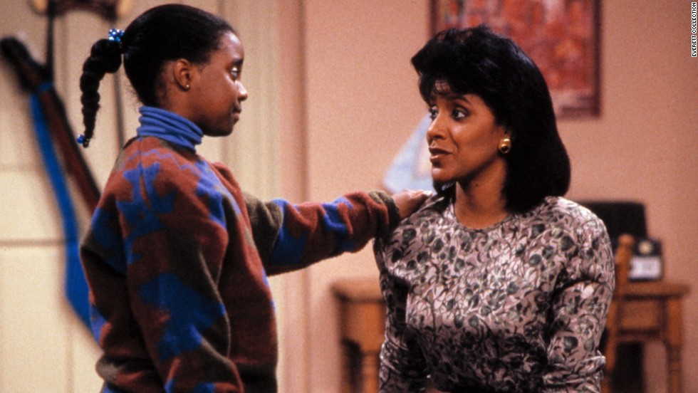 """The Cosby Show's"" Clair Huxtable (Phylicia Rashad, right, with Keshia Knight Pulliam) could keep her doctor husband, played by Bill Cosby, on his toes, and was a successful lawyer and mother to boot."