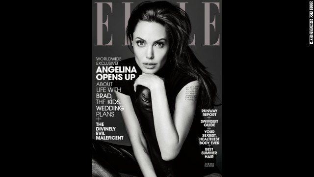 Angelina Jolie's full interview in the June issue of Elle magazine is available digitally and will be on newsstands nationwide starting May 20.
