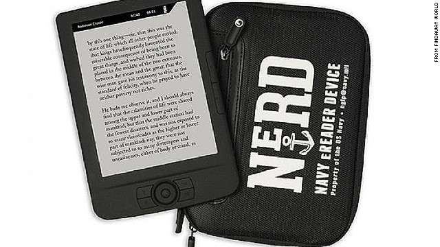 Sailors aboard U.S. Navy vessels will be given these e-readers, preloaded with hundreds of books.