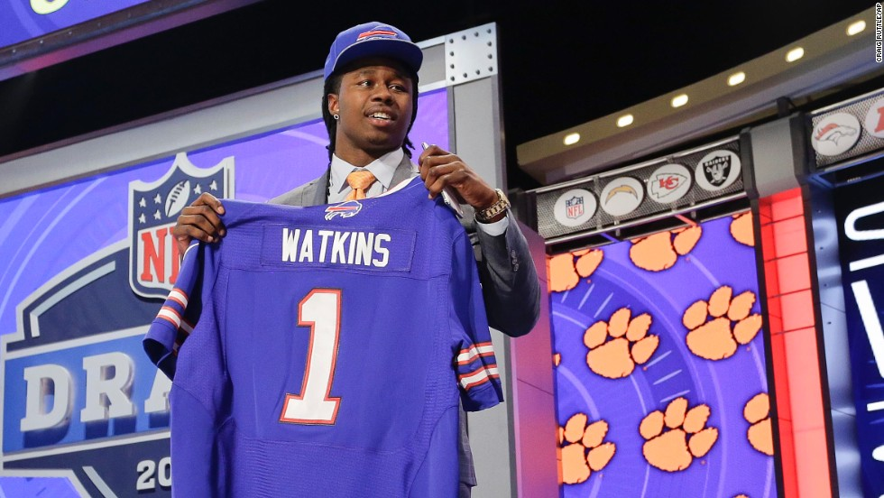 The Buffalo Bills traded up to No. 4 to take Clemson wide receiver Sammy Watkins.