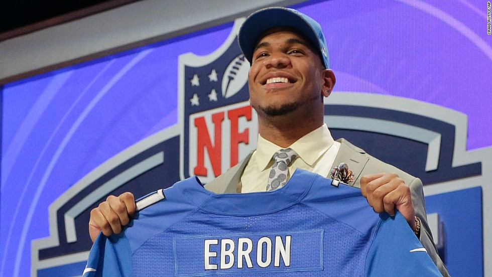 Eric Ebron, a tight end from North Carolina, was selected by the Detroit Lions with the 10th pick.