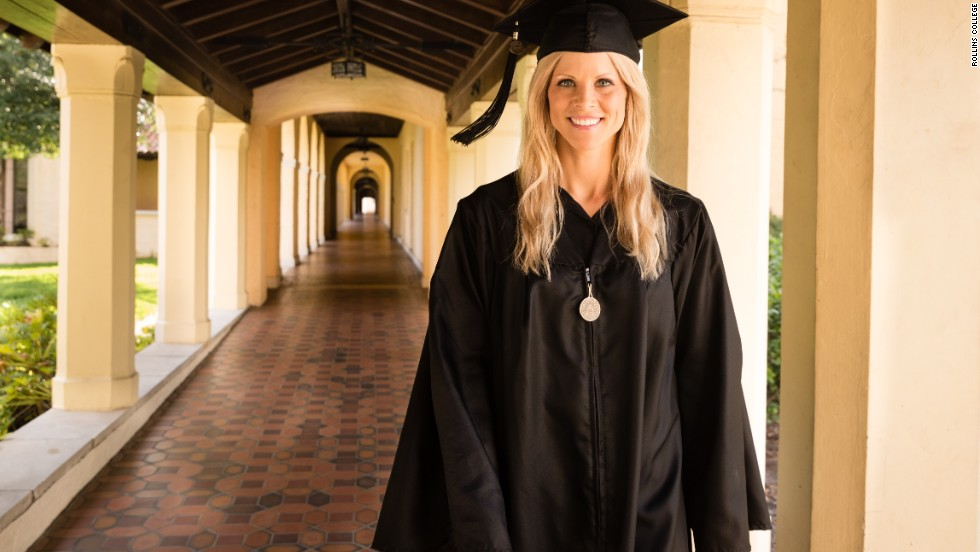 "Elin Nordegren, the ex-wife of Tiger Woods, gave <a href=""http://www.cnn.com/video/data/2.0/video/us/2014/05/12/bts-tiger-woods-ex-graduation-speech.rollins-college.html"">a commencement speech at Rollins College</a> after winning the Outstanding Graduating Senior Award from the Hamilton Holt School. ""Education has been the only consistent part of my life the last nine years,"" she told her fellow grads. ""And it has offered me comfort. Education is one thing that no one can take away from you.""<br />"