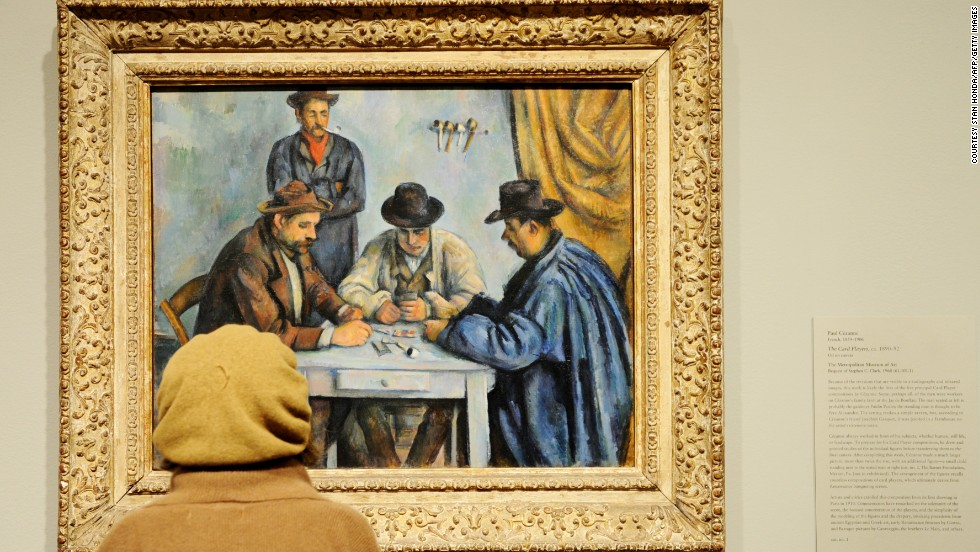 Many of the most expensive pieces of art have been sold behind closed doors -- making precise figures hard to come by -- but even the lowest estimates are eye-watering.  <em>The Card Players</em>, painted by Paul Cézanne in 1892/3, was reportedly sold to the State of Qatar in April 2011 for between $250 - $300 million.