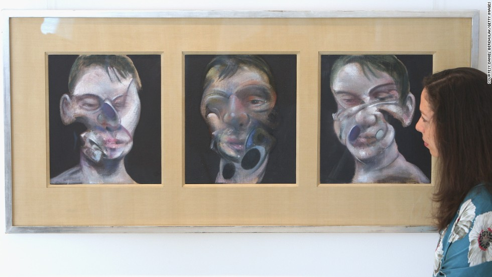 The oil-on-canvas triptych <em>Three Studies of Lucian Freud</em> painted by Francis Bacon in 1969, sold at auction for $142.4 million in November 2013. The buyer was Elaine Wynn, ex-wife of American business magnate Steve Wynn.