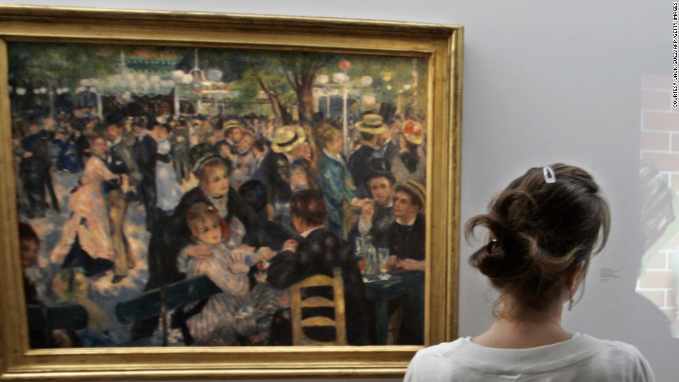 <em>Bal du moulin de la Galette</em> is an 1876 painting by French artist Pierre-Auguste Renoir. It is often cited as one of Impressionism's most celebrated masterpieces and depicts a typical Sunday afternoon at Moulin de la Galette, in the district of Montmartre in Paris. The piece sold for $78.1 million in 1990 to honorary chairman of Daishowa Paper Manufacturing, Ryoei Saito at Sotheby's, New York.