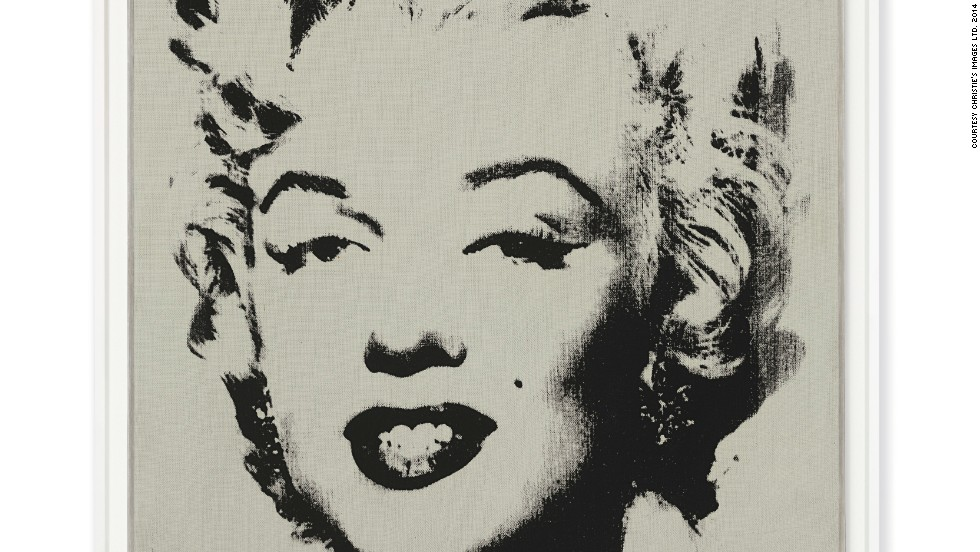 This Andy Warhol painting of Marylin Monroe is up for auction at the Post-War and Contemporary Evening sale at Christie's New York. It's called <em>White Marilyn</em> and was painted in 1962. The signed painting will sell for an estimated $12 - $18 million at the auction on May 13.