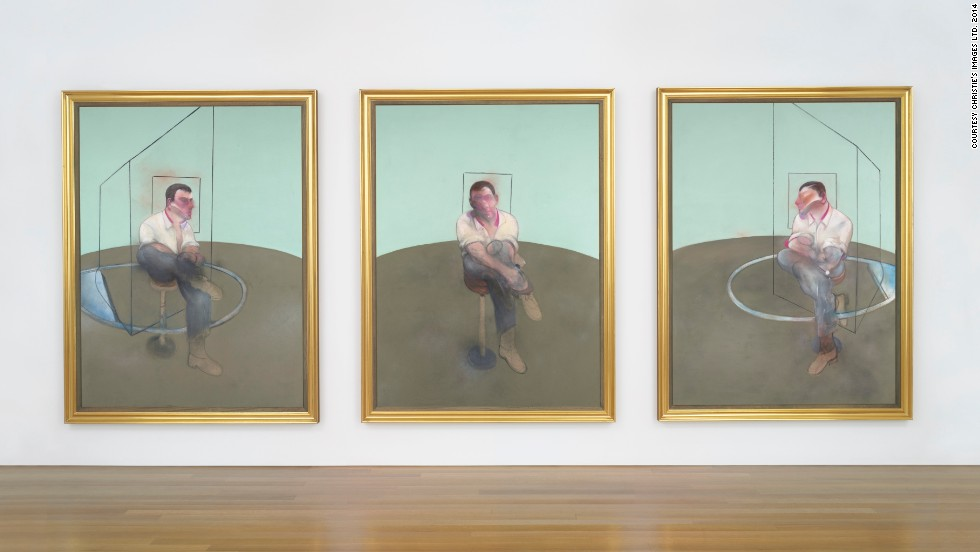 Painted in 1984, this Francis Bacon triptych <em>Three Studies for a Portrait of John Edwards</em> is one of the most anticipated pieces up for auction at Christie's on May 13. It will be sold for an estimated $80 million according to Christie's.
