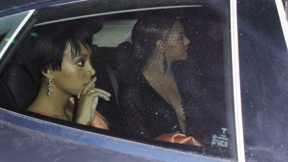 Beyonce departed the party with her sister following the alleged altercation. It isn't clear what prompted the outburst.