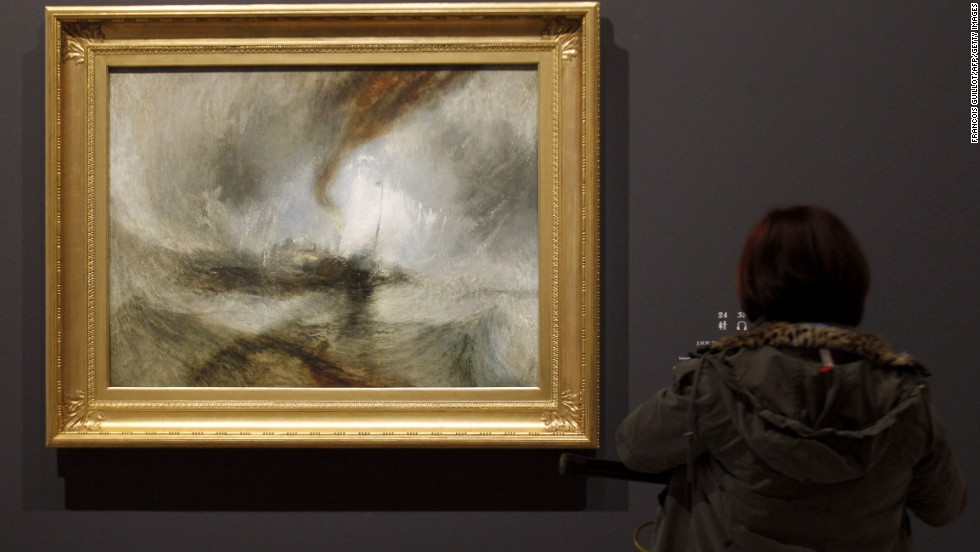 Turner reputedly had himself tied to the mast for four hours in order to recreate this painting. Parker does not plan to follow suit.