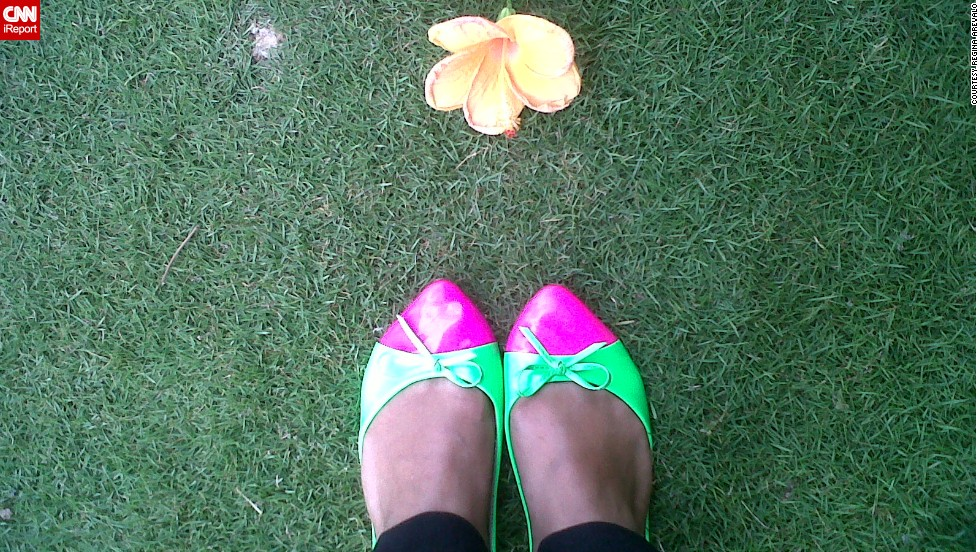 "What's not to love about a pair of shoes that glow in the dark? Even in daylight, ""their happy colors bring good vibes even on a hot summer's day sans electricity,"" said <a href=""http://instagram.com/p/nuh-QGLKHr/"" target=""_blank"">Regina Arevalo</a> from the Philippines. The island of Mindanao, where she lives, has been suffering recent blackouts."