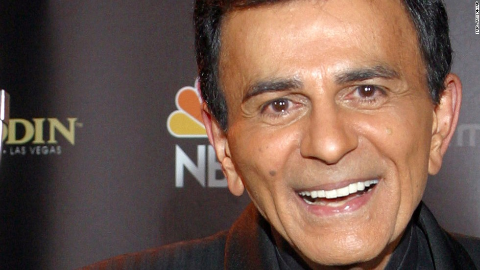 "Casey Kasem, who entertained radio listeners for almost four decades as the host of countdown shows such as ""American Top 40"" and ""Casey's Top 40,"" died early Sunday, June 15, 2014, according to a Facebook post from his daughter Kerri Kasem."
