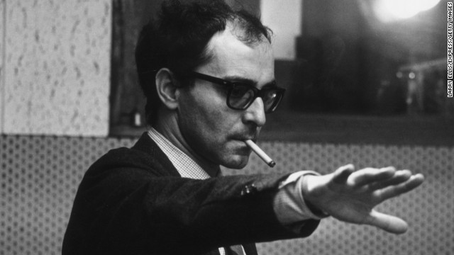 "Jean-Luc Godard pictured during the filming of ""Sympathy for the Devil"" in early 1968. He was a critic before he became a filmmaker."