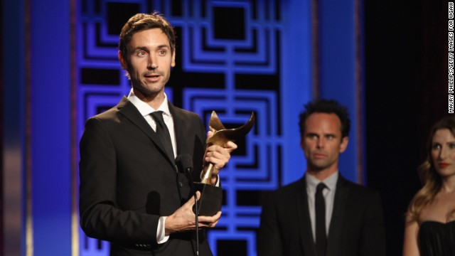 LOS ANGELES, FEBRUARY 17, 2013: Writer Malik Bendjelloul accepts the Writers Guild Award for Documentary Screenplay onstage during the 2013 WGAw Writers Guild Awards. (Photo by Maury Phillips/Getty Images for WGAw)