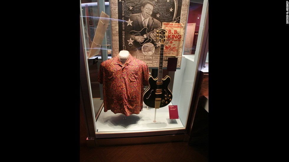 "Don't forget to visit the <a href=""http://www.bbkingmuseum.org"" target=""_blank"">B.B. King Museum and Delta Interpretive Center</a> in Indianola, Mississippi. King's ever-evolving performance attire and his favorite guitar, a Gibson model that he named ""Lucille,"" are on display."
