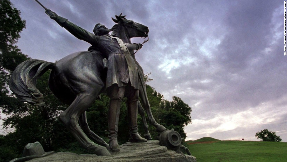 "<a href=""http://www.nps.gov/vick/index.htm"" target=""_blank"">Vicksburg National Military Park</a> provides a sobering reminder of the Civil War and one of its key battles. Confederate soldiers surrendered to Union troops on July 4, 1863. The statue shown here depicts Confederate general Lloyd Tilghman's death during the battle of Champion Hill."