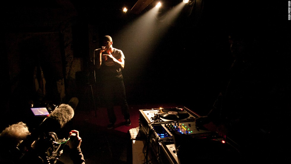 Hip-hop artist PyInfamous performs a set at the Soul Wired Cafe in Jackson.