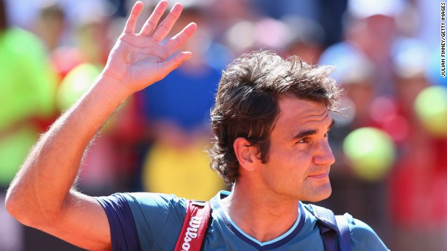It's goodbye for Roger Federer as he loses in the second round of the Rome Masters to Jeremy Chardy.