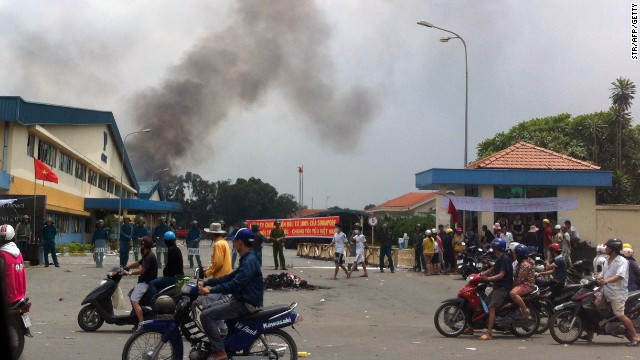 Factories burn in the wake of anti-China protests in Vietnam, the largest the country has seen in decades.