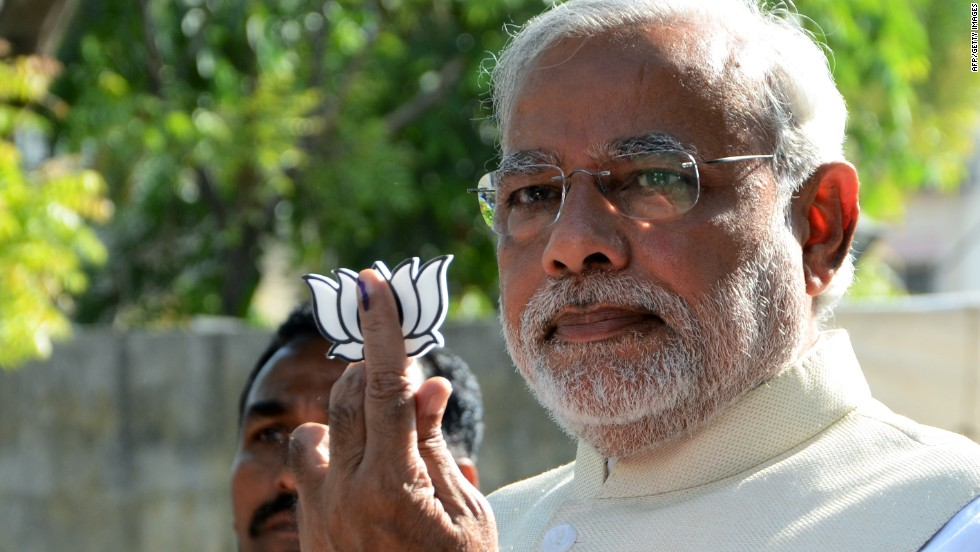 narendra modi appointed as india s prime minister cnn