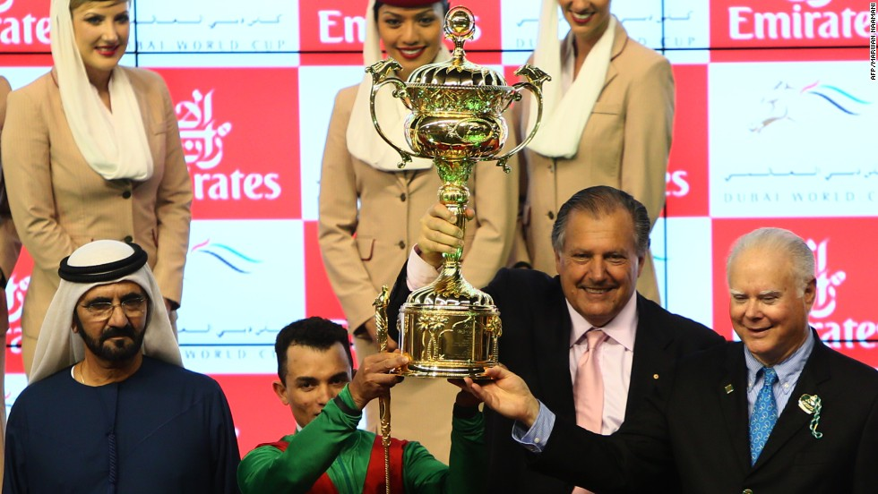 The Dubai World Cup triumph prompted Sheikh Mohammed Bin Rashid al-Maktoum (left) to buy a 29% stake in Animal Kingdom.