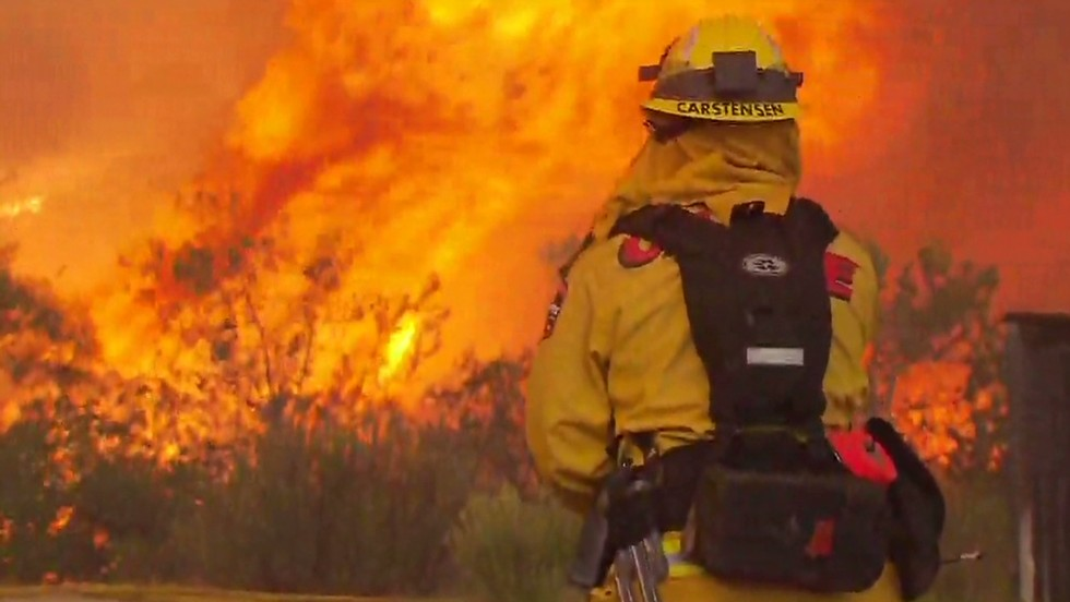 'Unprecedented' wildfires in California; first arson charge filed