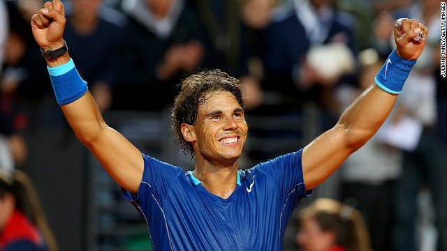 Rafael Nadal remains on course for an eighth Rome Masters title after beating Grigor Dimitrov in the semis on Saturday.
