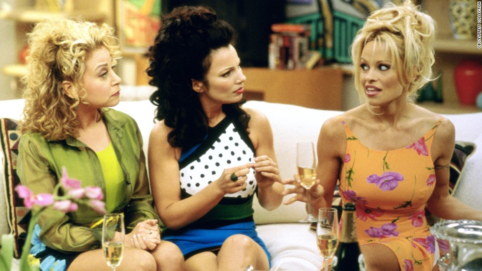 "Rachel Chagall, Fran Drescher and Anderson in an episode of ""The Nanny."""