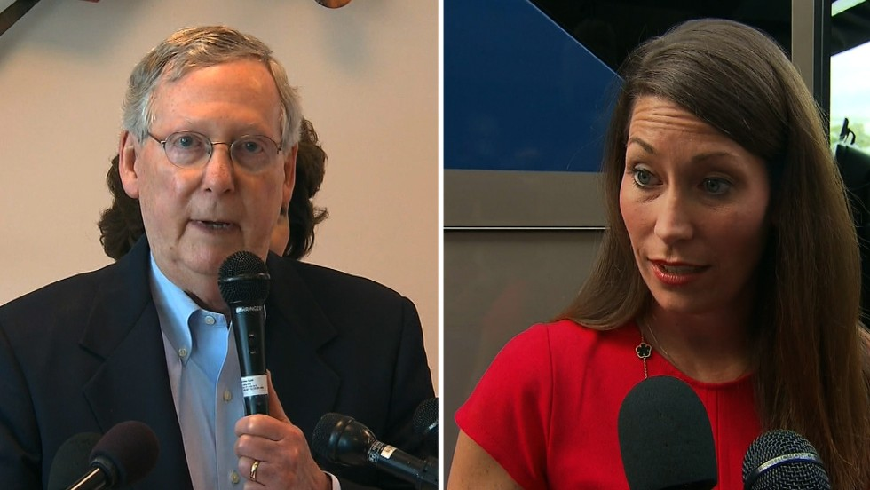 Mitch McConnell would face biggest challenge yet in Alison Lundergan Grimes