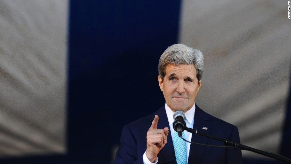 The secretary of state delivered Yale University's Class Day address on May 18. Kerry is a 1966 graduate of Yale.