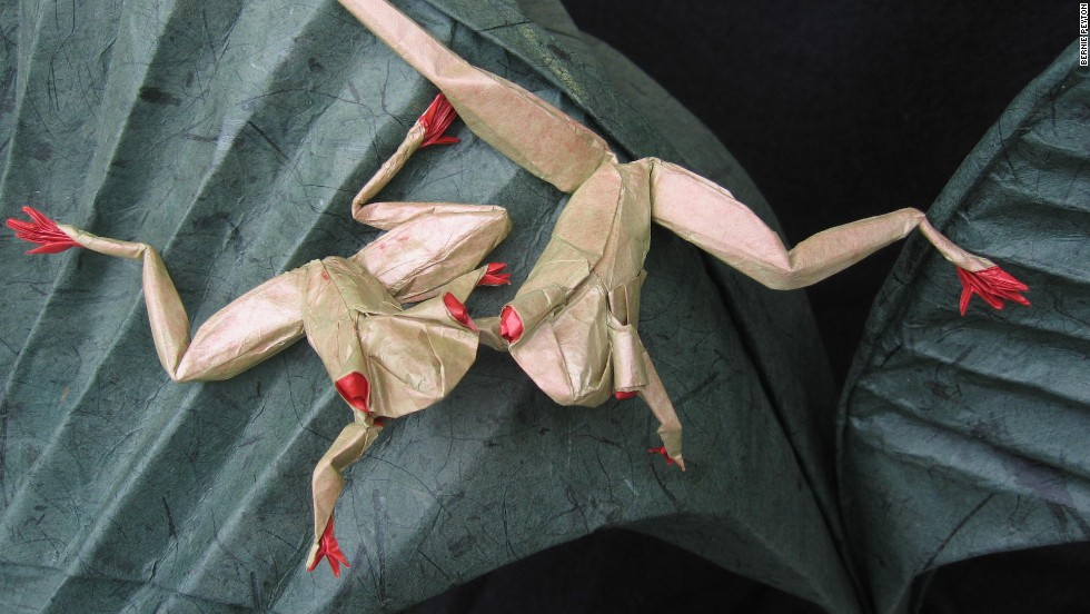 """Origami can be used to create incredibly realistic forms,"" says Uyen Nguyen, curator of the upcoming Surface to Structure: Folded Forms exhibition at Copper Union. ""Not just to the likeness of say, an insect, but down to the exact species of that particular insect with proportions of its body segment true to real life."""