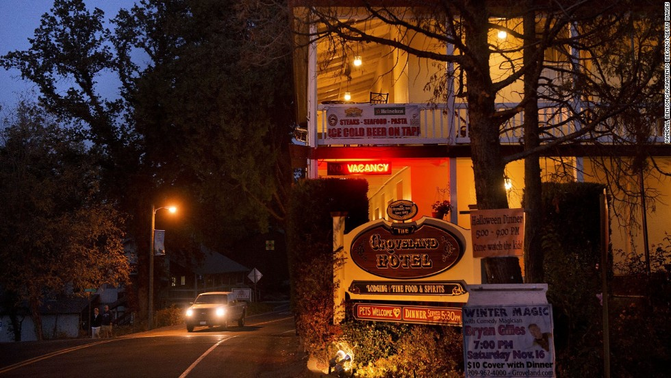 Wildfires are a threat to the Groveland Hotel, built after gold was found in California's Sierra foothills, sparking the nation's biggest gold rush.