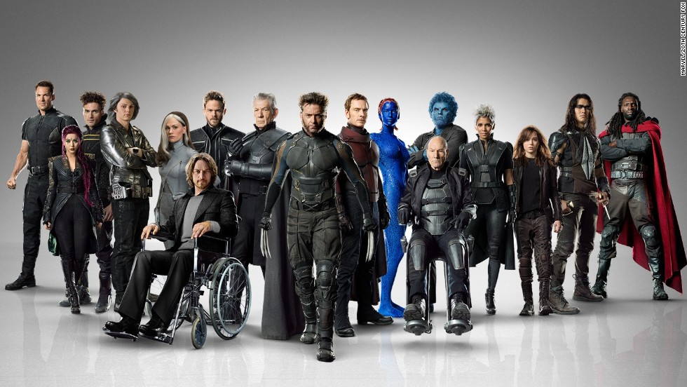 "Behold the massive cast of the 2014 film ""X-Men: Days of Future Past."" The movie is based on a <a href=""https://comicstore.marvel.com/X-Men-Days-of-Future-Past/digital-comic/26714"" target=""_blank"">classic ""X-Men'""storyline</a> from the comic books. Because of the time travel element, it gathers characters from all of the previous ""X-Men"" movies. Here's a look at the characters in their comic and film incarnations. (Some will reprise their roles in 2016's ""X-Men: Apocalypse."")"