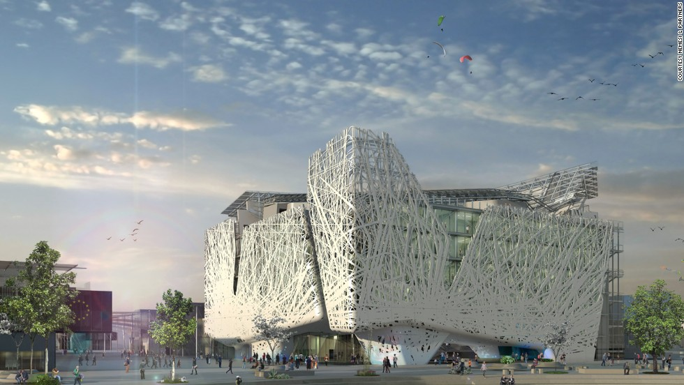 "The Palazzo Italia pavilion, to be launched at the 2015 Milan Expo, will be built using ""biodynamic"" cement, which will remove certain pollutants from the air."