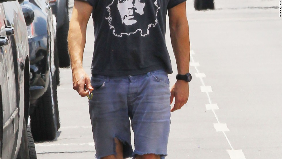 Shia LaBeouf ditches the bag over his head as heads to the gym on May 21.