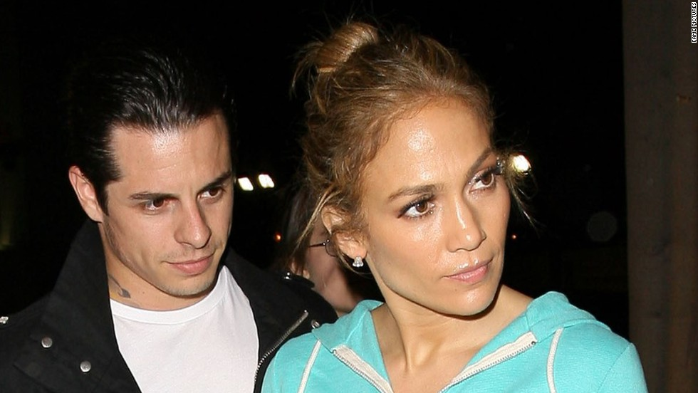 Jennifer Lopez stops to sign autographs after dinner with beau Casper Smart on May 20.