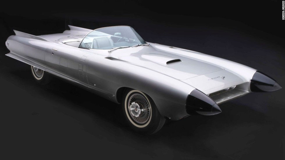"Earl's 1959 Cadillac Cyclone XP-74 included a radar-based anti-collision system tucked inside its cone-shaped ""dagmar"" headlights."