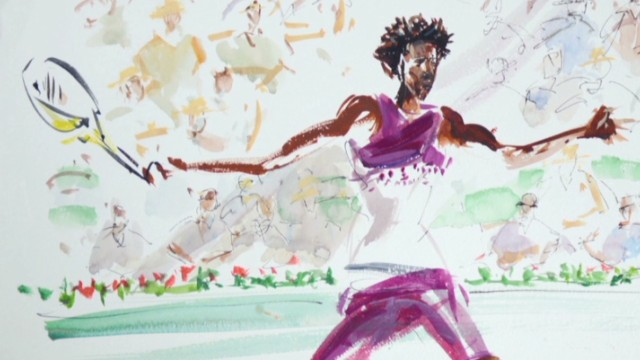Watercolorist captures French Open