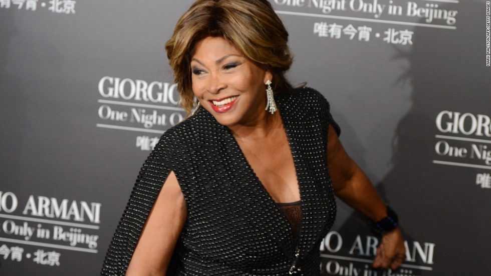 What's age got to do with it? At 75 years old, singer Tina Turner still has all the right moves and those incredible legs.