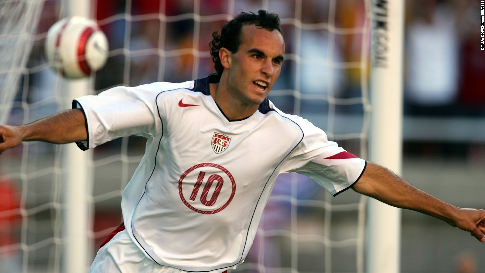 The United States needed a win over Costa Rica during a 2005 World Cup qualifier in Salt Lake City. Here, Donovan celebrates his second goal in the 3-0 win.