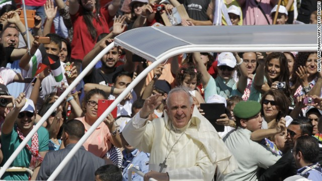 Pope Francis arrives in Jordan's capital