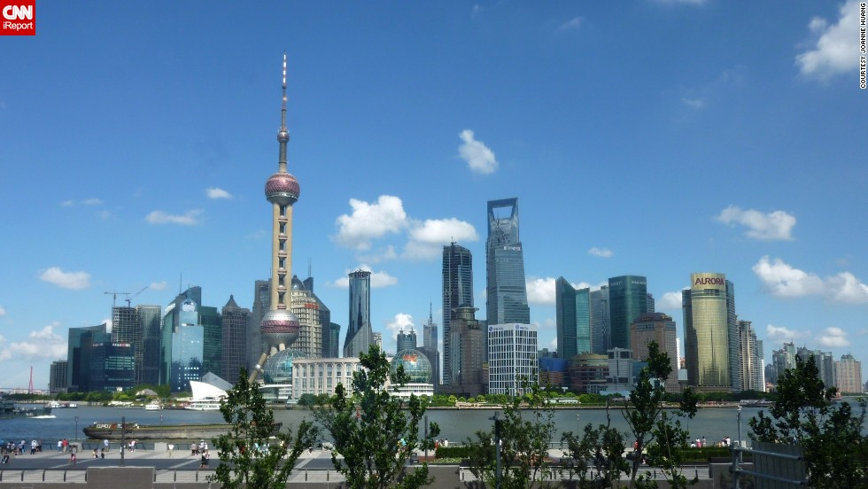 "Joanne Huang was visiting Shanghai, China, when she photographed the <a href=""http://ireport.cnn.com/docs/DOC-1129274"">Oriental Pearl Tower</a>. The TV tower is an iconic building located in the Bund district, near the Huangpu River."