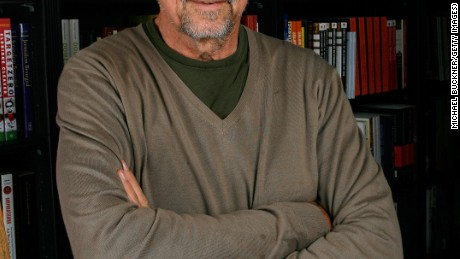 Author Tom Hayden poses before signing copies of his book, 'Ending The War in Iraq' at Book Soup June 24, 2007 in Los Angeles, California.