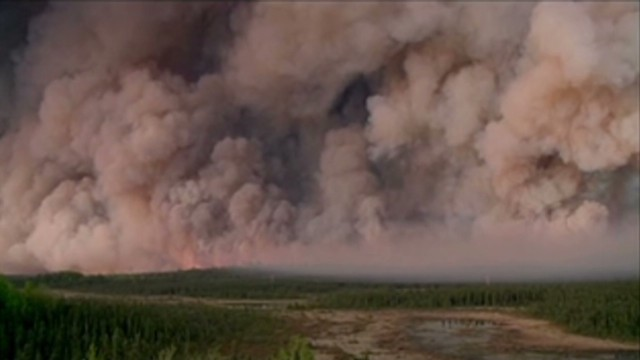 Evacuation urged as wildfire spreads