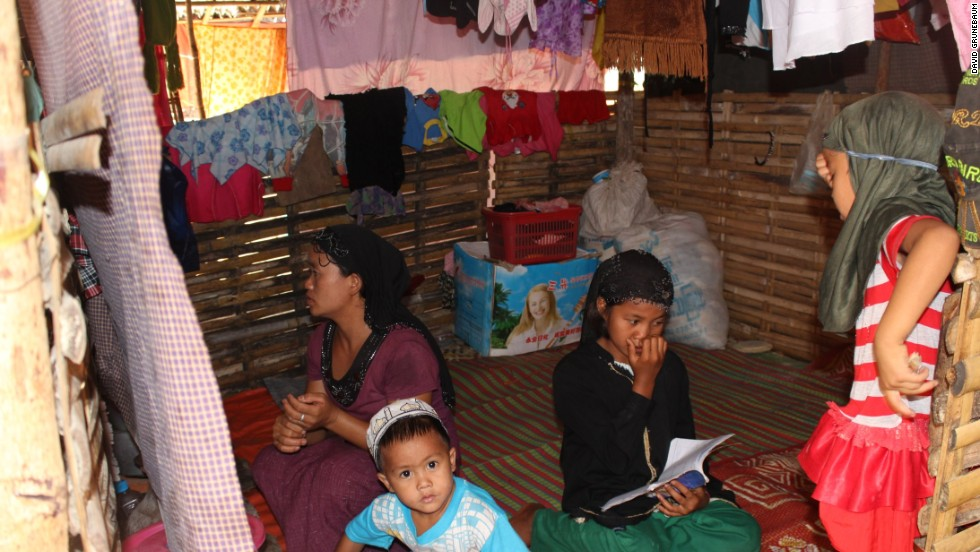 Many families like this are forced to live in cramped conditions with very basic facilities.